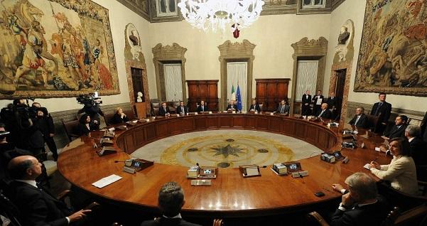 foto del consiglio dei ministri