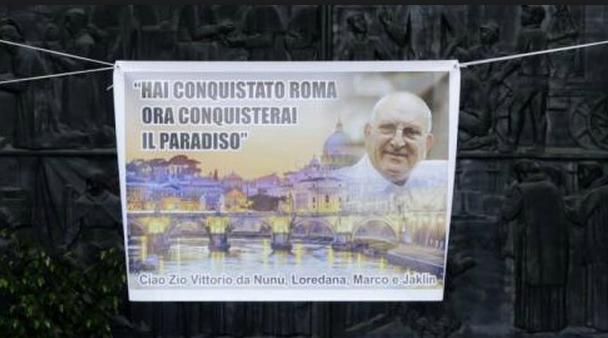 locandina celebrativa casamonica funerali roma