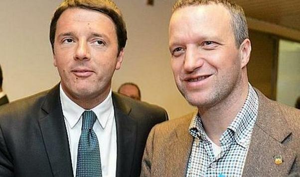 il premier renzi col sindaco di verona flavio tosi