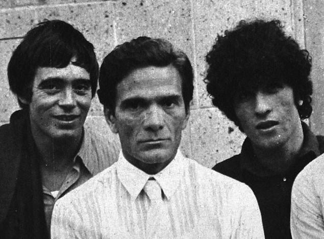 Da sinistra: Franco Citti, Pier Paolo Pasolini, Ninetto Davoli