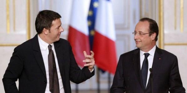 incontro tra Renzi ed Hollande