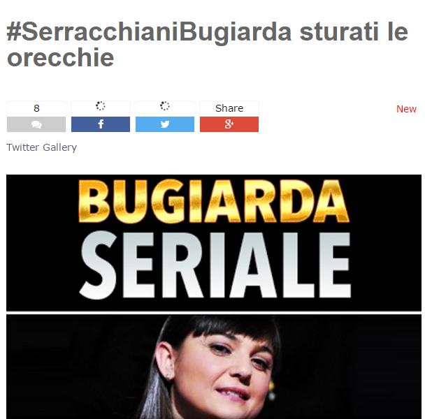 M5S, blog Grillo, Isis, Serracchiani, immagine del titolo del post pubblicato su blog Grillo contro Debora Serracchiani