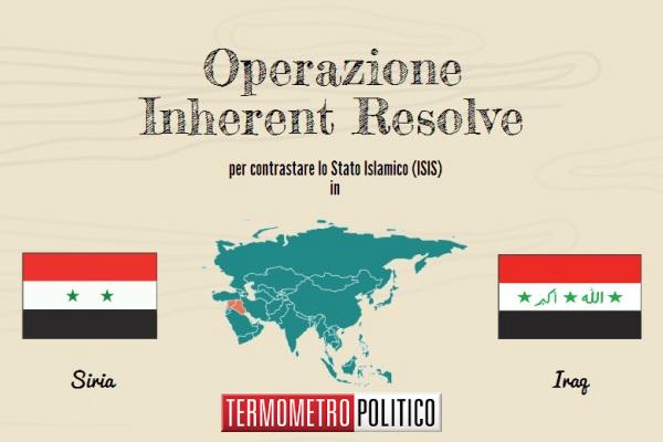 guerra ISIS infografica operazione inherent resolve