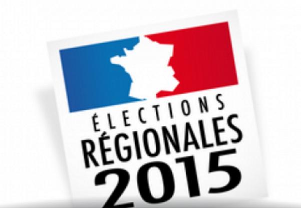 Corsica, Risultati elezioni Francia, Front National, Marine Le Pen, la leader del front national durante un dibattito sulle elezioni regionali francesi, immagine riferita alle elezioni francesi con la scritta elections regionales 2015