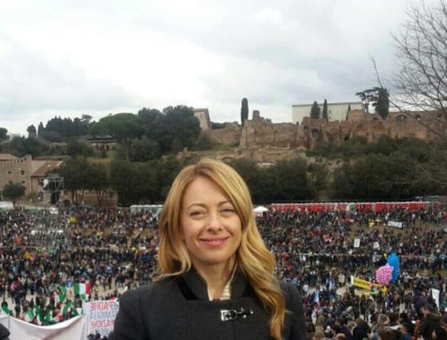 programma fratelli d'italia Giorgia Meloni, Fratelli d'Italia, l'esponente di Fratelli d'Italia durante la manifestazione del Family Day