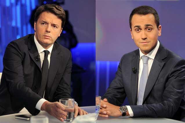 Lo scontro sulle tasse tra Renzi e Di Maio