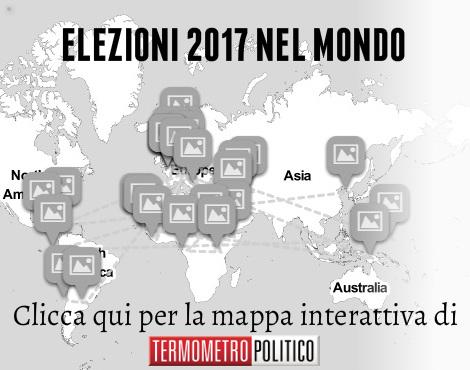 Elezioni 2017 nel mondo: la mappa interattiva di Termometro Politico