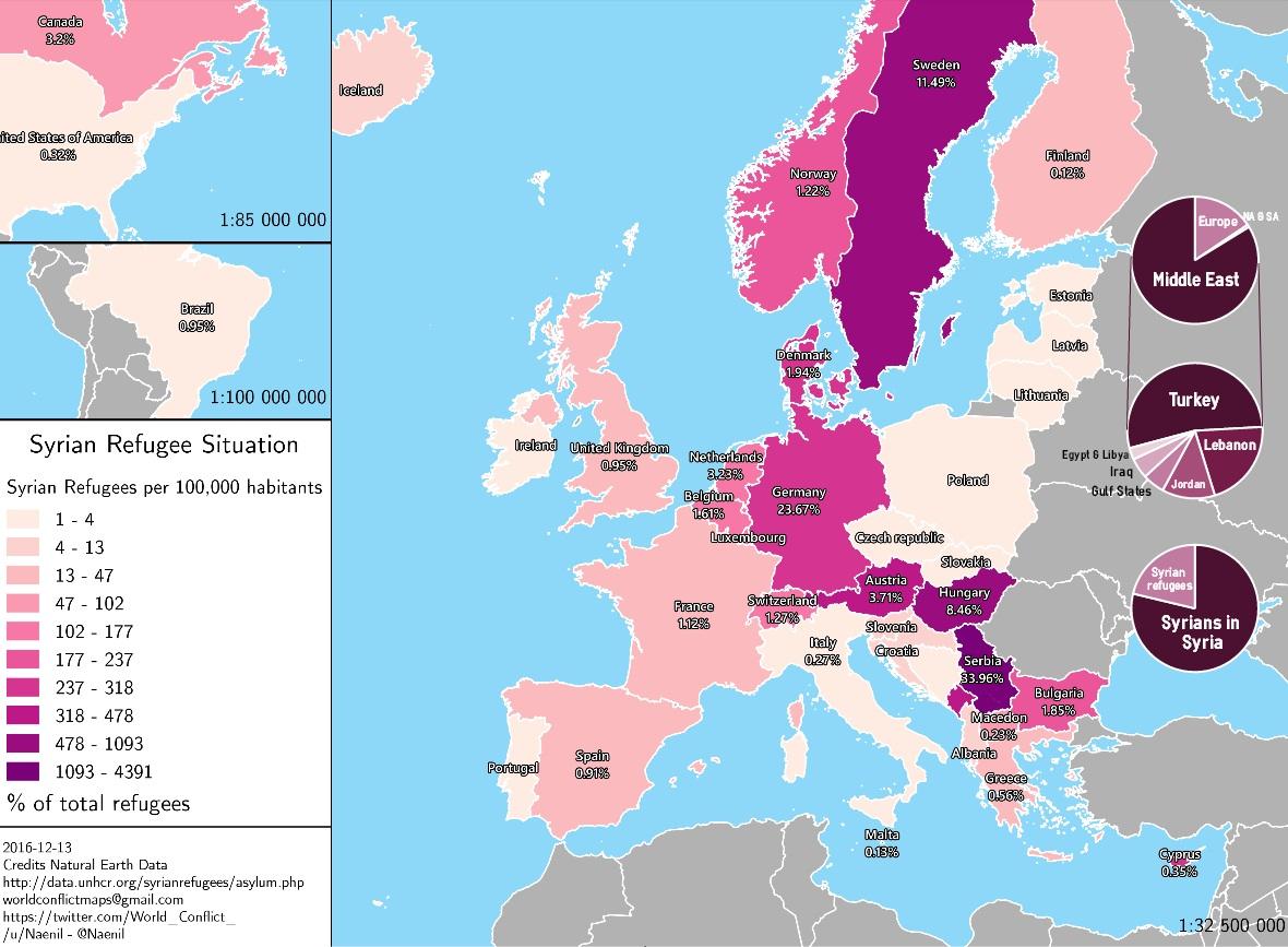 mappe rifugiati siriani