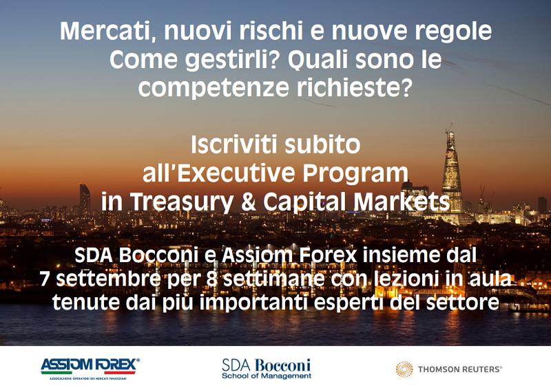 Forex primo corso per operatori finanziari alla Bocconi