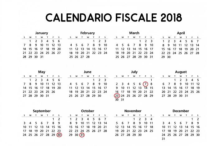 Calendario Fiscale.Legge Di Bilancio 2018 Nuove Scadenze Modello 730 Redditi