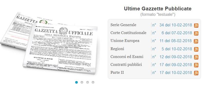 Elezioni politiche 2018: liste coalizioni in Gazzetta Ufficiale live
