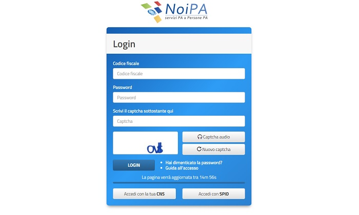 NoiPa cedolino marzo pdf online stipendio