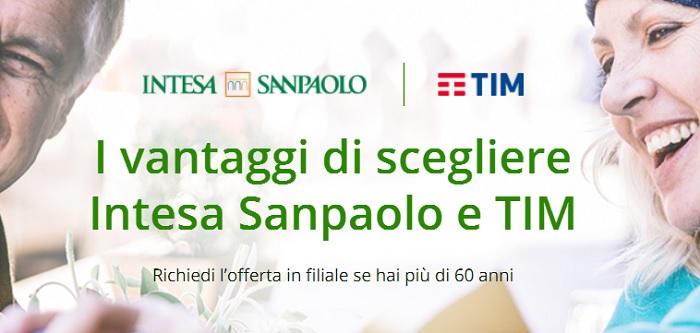 Intesa Sanpaolo: canone gratuito con offerta Tim