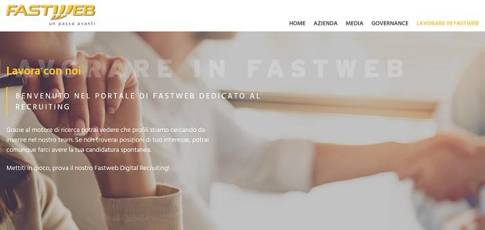 Offerte di lavoro: Fastweb assume personale