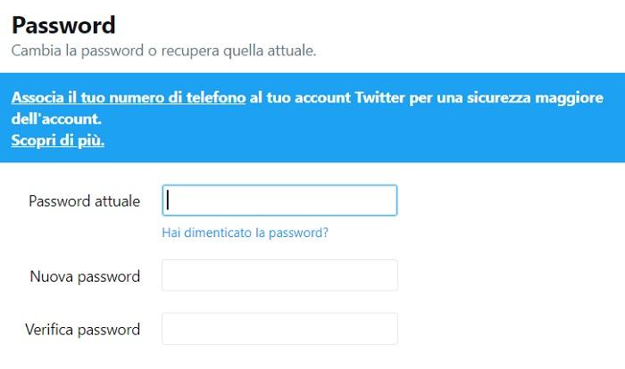 Twitter: cambiare password dopo bug