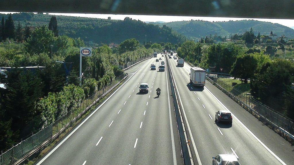 Autostrade, un'immagine del 2011 dell'Autostrada A1