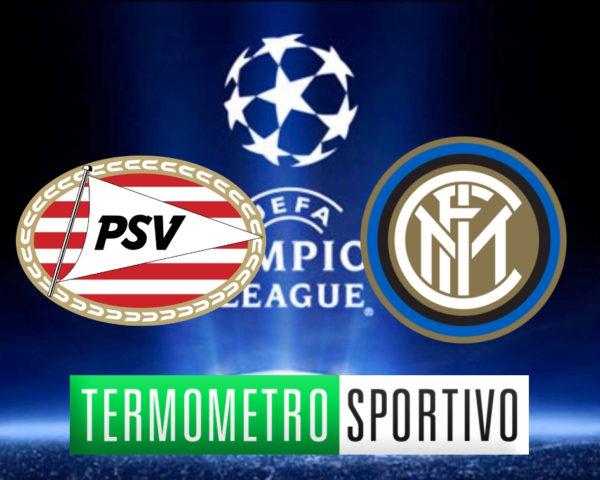 Diretta PSV Eindhoven-Inter streaming live Champions League 2018/2019, formazioni e consigli PSV Inter