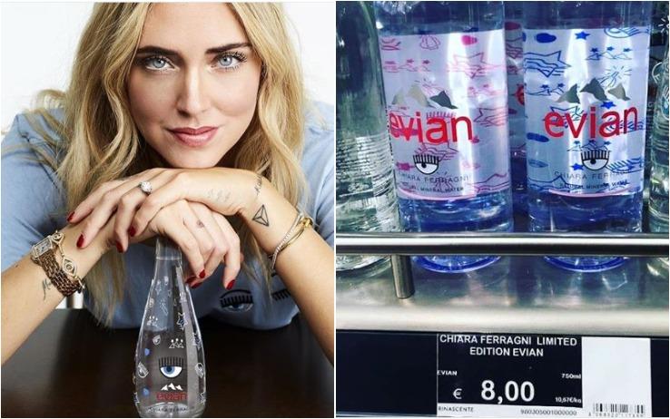 Chiara Ferragni acqua minerale Evian
