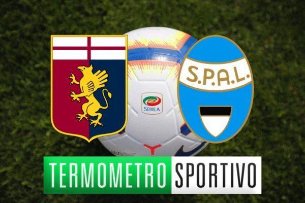Diretta Genoa-Spal: quote, streaming e risultato - LIVE