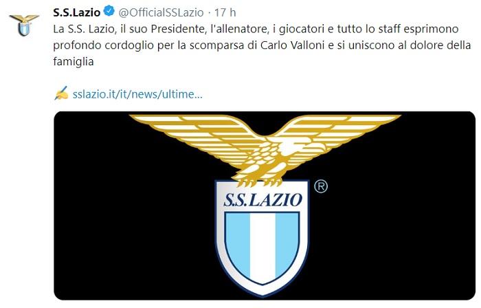 Carlo Valloni tifoso Lazio causa morte