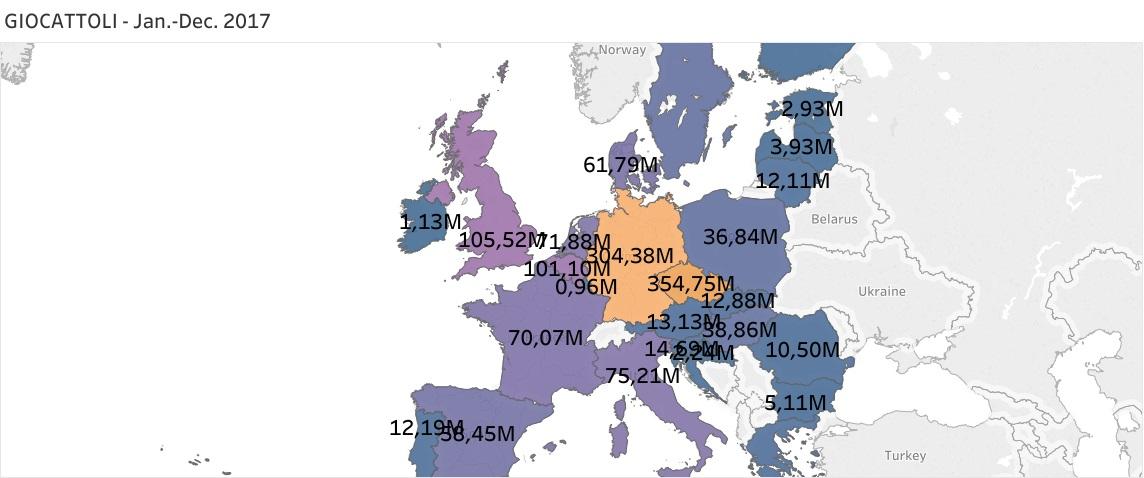 Mercato dei giocattoli, chi ne esporta ed importa di più in Europa - infografiche
