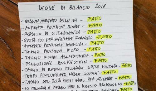 Pensioni ultime notizie: Luigi Di Maio Quota 100 fatta