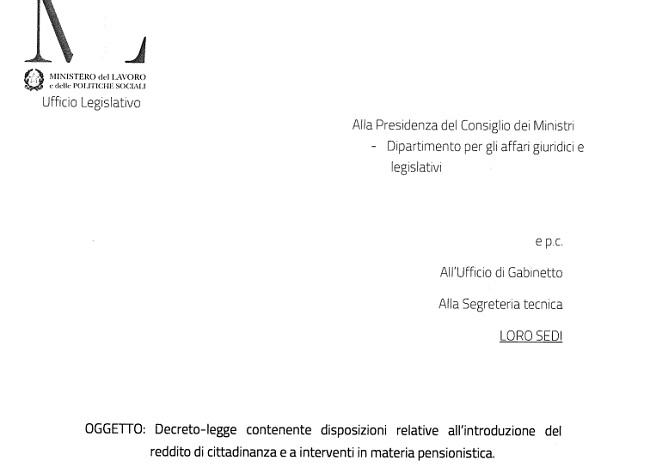 Bozza decreto pensioni Quota 100 in pdf le risorse e i requisiti ok