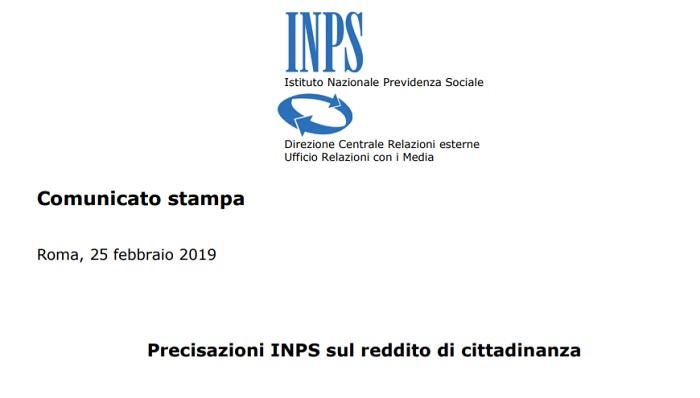 Reddito di cittadinanza: pagamento Inps da aprile, ecco la data ufficiale
