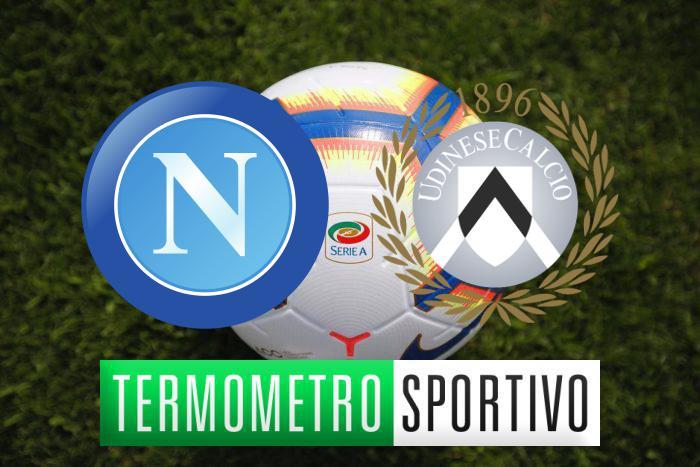 Diretta Napoli Udinese streaming, highlights e risultato - LIVE