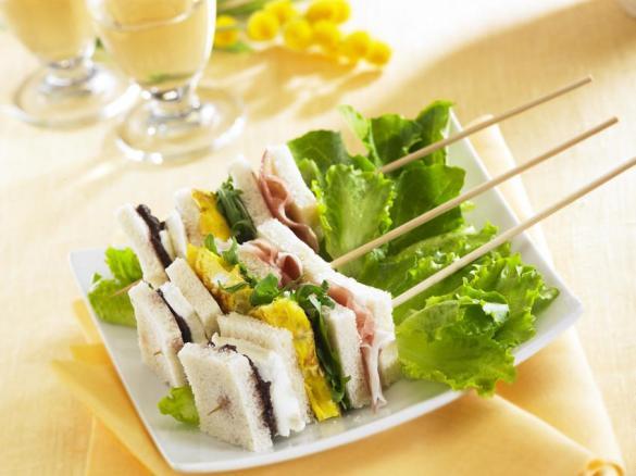 Spiedini di tartine mimosa con ricetta bimby
