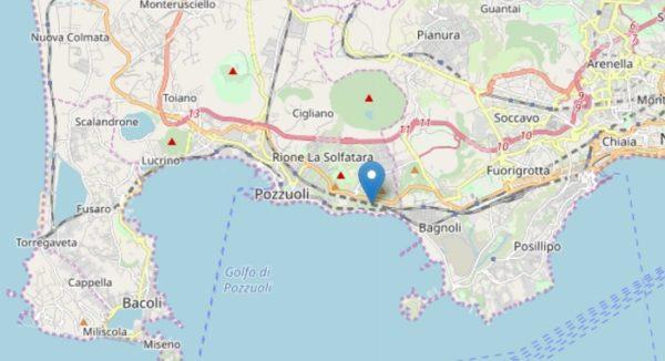 Terremoto Napoli 15 marzo 2019