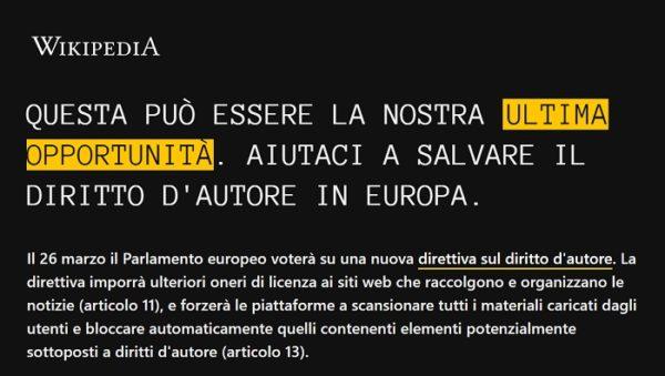 Wikipedia oscurata in Italia: le cause