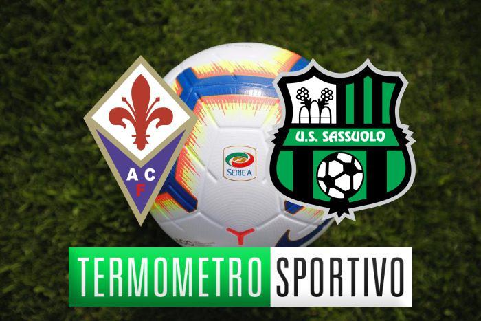 Fiorentina-Sassuolo diretta streaming, formazioni e cronaca in tempo reale