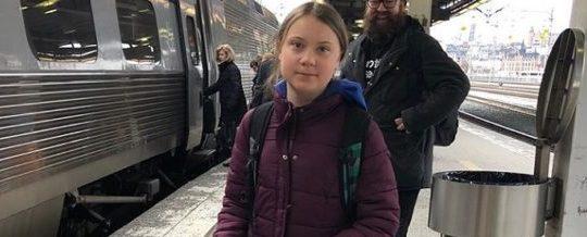 Greta Thunberg a Roma 19 aprile 2019