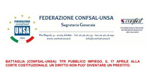 Sentenza TFR dipendenti pubblici: attesa decisione Corte Costituzionale