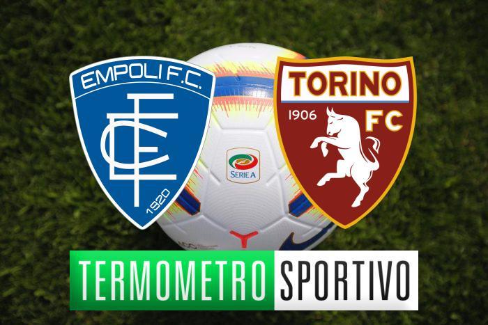 Dove vedere Empoli-Torino in diretta streaming o in tv