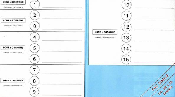 Fac simile scheda elezioni comunali 2019: voto disgiunto e che colore è
