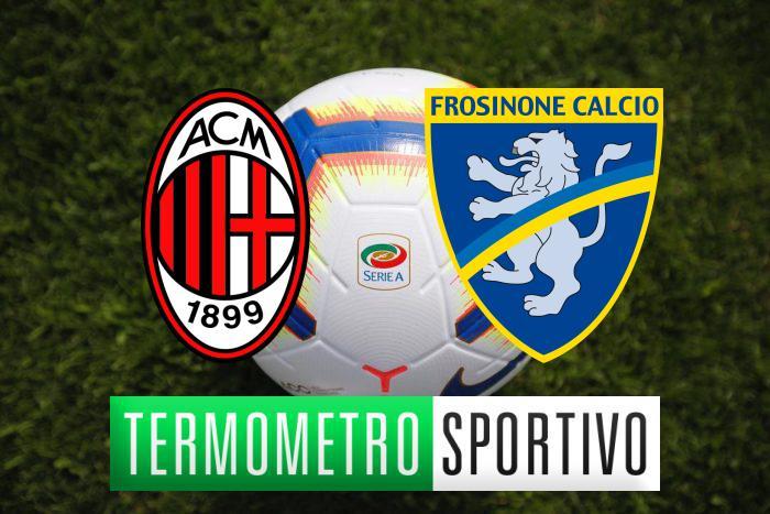 Milan-Frosinone: diretta streaming, formazioni e cronaca in tempo reale