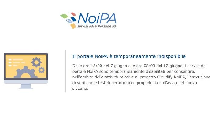 NoiPa cedolino giugno non disponibile