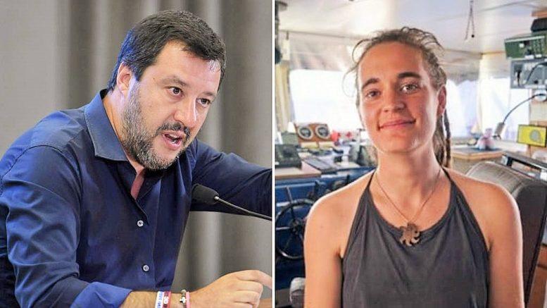 """Matteo Salvini """"Non vedo l'ora di vedere Carola Rackete in tribunale"""""""