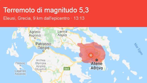 Terremoto atene oggi magnitudo e danni le ultime notizie for Citta della spezia ultime notizie cronaca