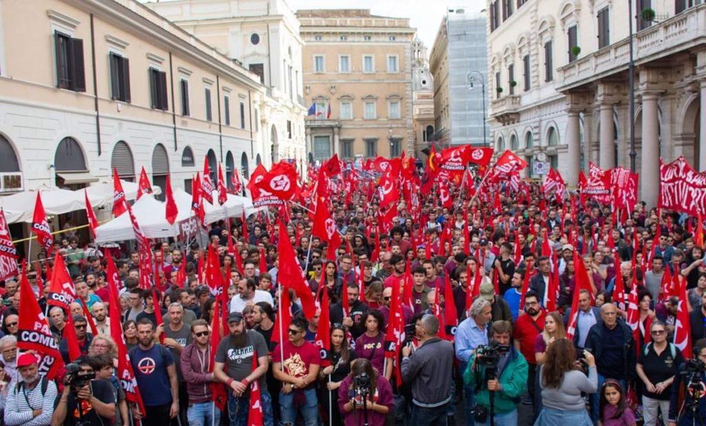 Il PC scende in piazza a Roma. Le dichiarazioni esclusive di Marco Rizzo