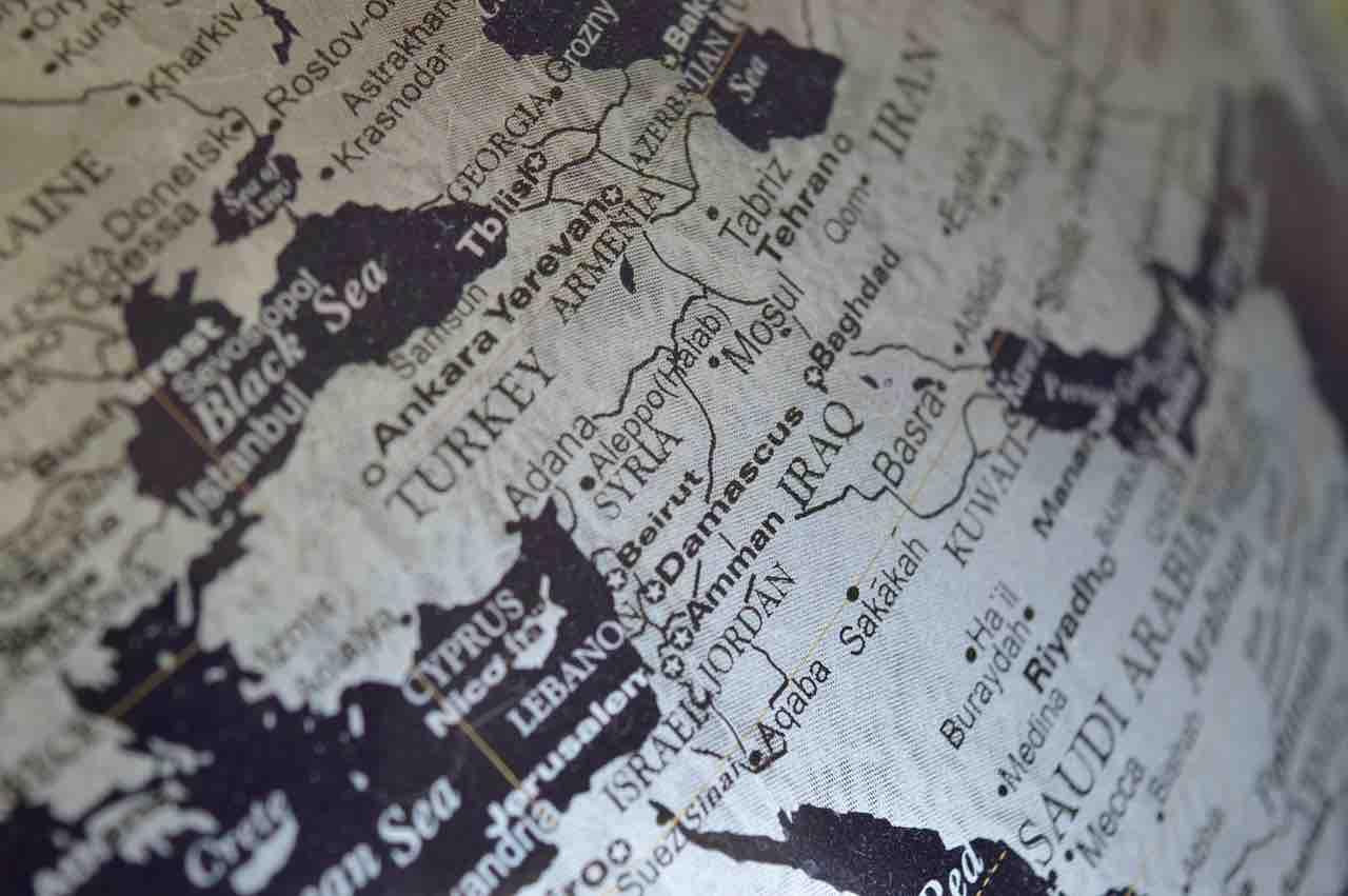 mappa medioriente