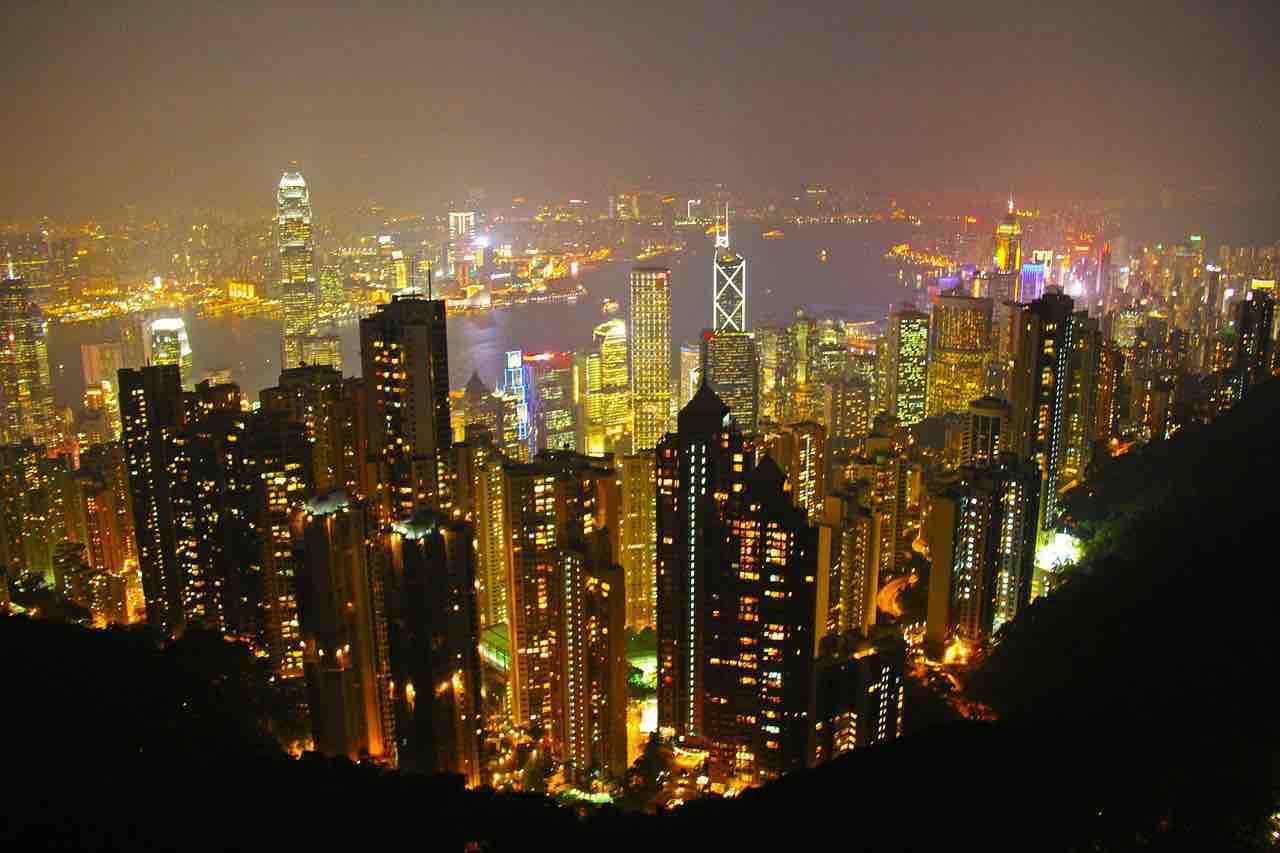 Vista di Hong Kong