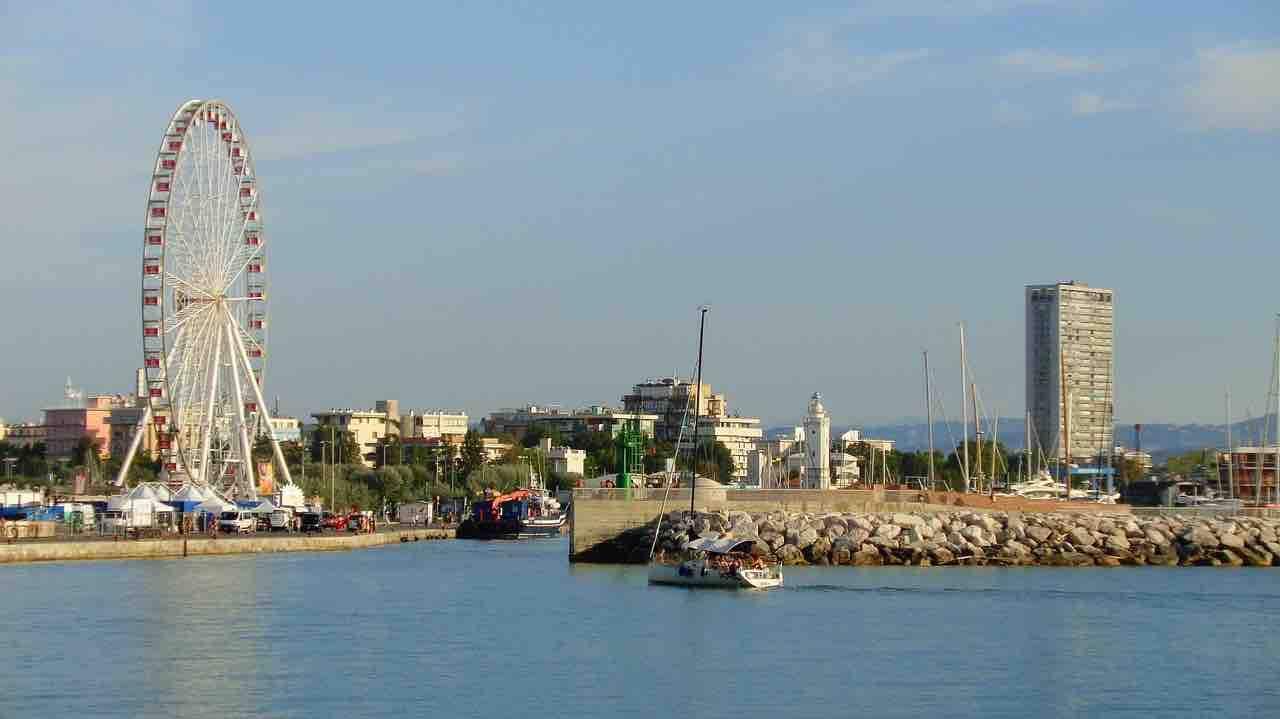 Vista lungomare Rimini