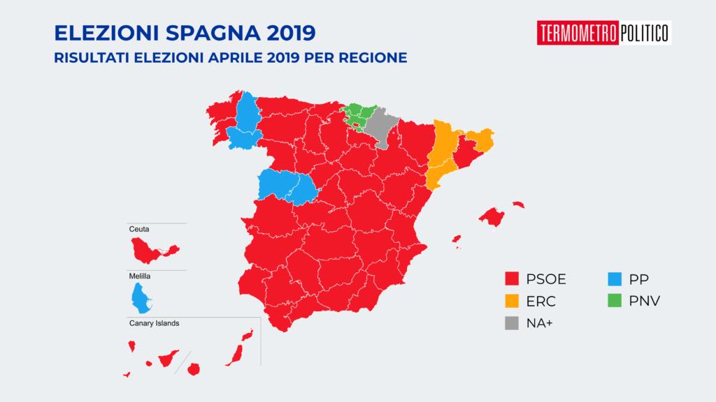 elezioni spagna risultati per provincia