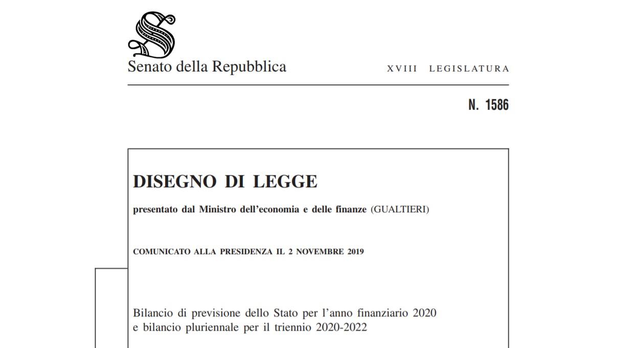 Copia Legge di Bilancio 2020