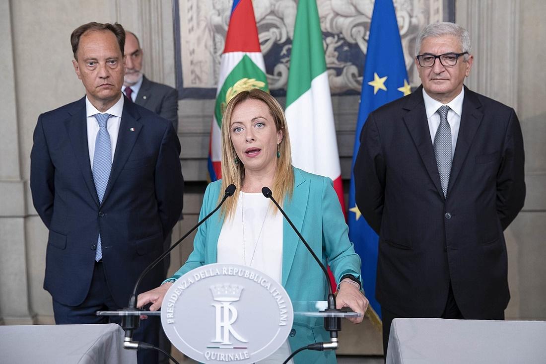 Giorgia Meloni nel corso delle consultazioni