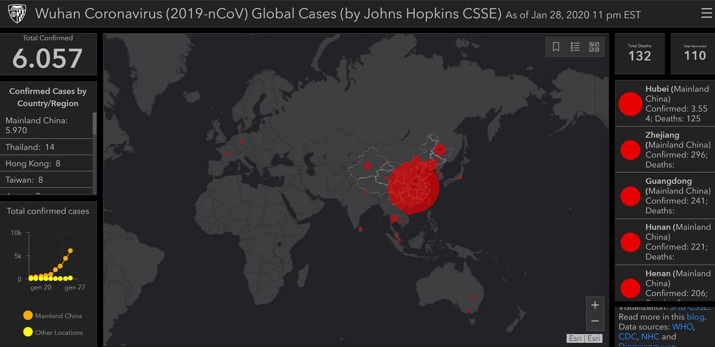 Mappa Coronavirus