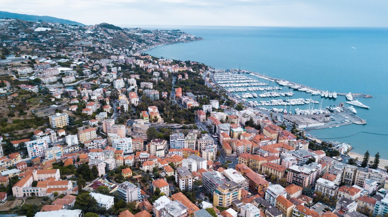 Immagine dall'alto di Sanremo